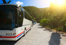 Tourist buses Stock Photography
