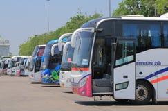 Tourist buses tourism Bangkok Thailand Royalty Free Stock Images
