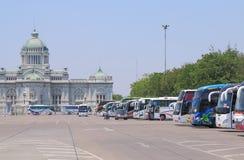 Tourist buses tourism Bangkok Thailand Royalty Free Stock Photography