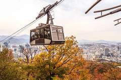 Tourist In Cable Car Stock Images