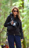 Tourist with camera Royalty Free Stock Photos