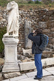 Tourist with a camera Royalty Free Stock Photography