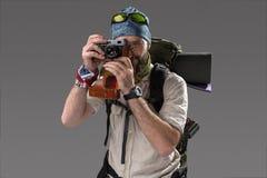 Tourist with camera Stock Photo