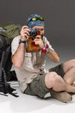 Tourist with camera Stock Photography