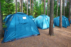 Tourist camp Stock Photography