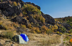Tourist camping Royalty Free Stock Images
