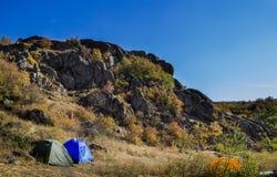 Tourist camping Stock Photos