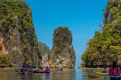 Tourist canoes in Phuket Stock Image