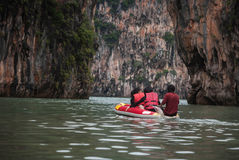 Tourist canoes in Phuket Royalty Free Stock Photography