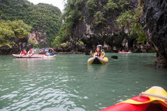 Tourist canoes in Phuket Stock Photography