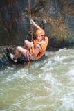 Tourist canyoning, Vietnam Stock Photography
