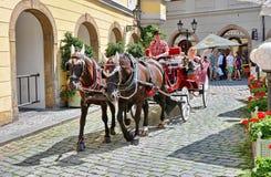 Tourist carriage in Prague Royalty Free Stock Photo
