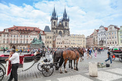 Tourist carriage in Prague Royalty Free Stock Images