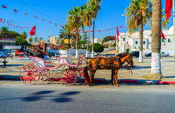 The tourist carriage Royalty Free Stock Photos