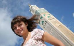 Tourist in Casablanca stockfoto