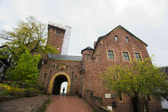 Tourist in a castle Stock Photo