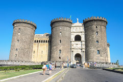 Tourist in Castle Nouvo in Naples on 16, Agoust 2013 Stock Photography