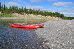 Tourist catamaran on the North river. Stock Photos