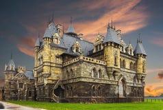 Tourist center Castle Garibaldi in the village Hryaschevka near royalty free stock image