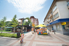 The tourist center of Pomorie in Bulgaria Royalty Free Stock Image