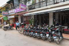 Tourist centered business district in Siem Reap. Royalty Free Stock Image
