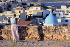 Tourist in Chania, Greece Stock Images
