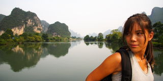 Tourist in China Asia Stock Photo
