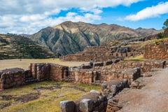 Tourist Chincheros ruins peruvian Andes  Cuzco Peru Stock Image