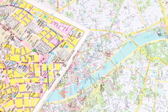 Tourist city map Royalty Free Stock Images
