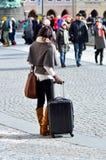 Tourist in Prague Stock Image