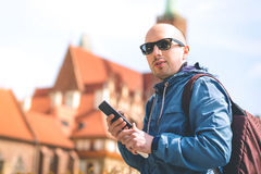 Tourist in the city Royalty Free Stock Images