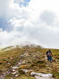 Tourist climb to the top of Hoverla Stock Photo
