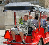 Tourist in coach. Royalty Free Stock Photos