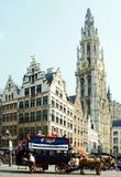 Tourist Coach in Antwerp Stock Photos