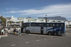 Tourist coach at the Waterfront area Cape Town S Africa Royalty Free Stock Images