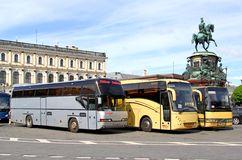 Tourist coaches Royalty Free Stock Image