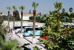 Tourist Coaches at Bardo Museum, Tunis, Tunisia. The Bardo museum, renowned for its collection of antiquities, is a major attraction in Tunis Stock Images