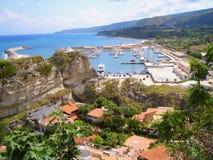 Tourist coast. An Italian tourist coast in the Mediterranean royalty free stock photos