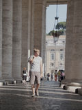 Tourist Columns in Vatican.  Stock Photo