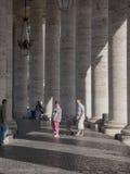 Tourist Columns in Vatican Stock Photo