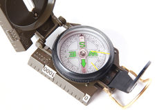 Tourist compass over white Royalty Free Stock Photo
