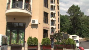 The tourist complex in Golden Sands in Bulgaria stock footage