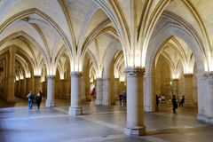Tourist in Conciergerie, Paris, France Stock Photos