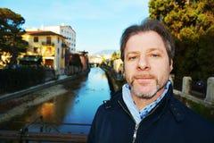 Tourist in Conegliano Veneto, Treviso. Tourist travelling around the streets in Conegliano Veneto, in Veneto, Treviso, Italy Royalty Free Stock Photos