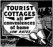 Tourist Cottages Royalty Free Stock Photography
