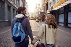 Tourist couple city Royalty Free Stock Image
