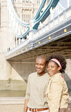 Tourist couple in London portrait. Royalty Free Stock Images
