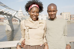 Tourist couple in London. Royalty Free Stock Images