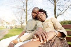 Tourist couple in London portrait. Stock Photography