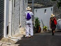 Tourist couple Stock Photo